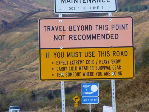 Rozmiar Alaski znak zakaz wjazdu Alaska