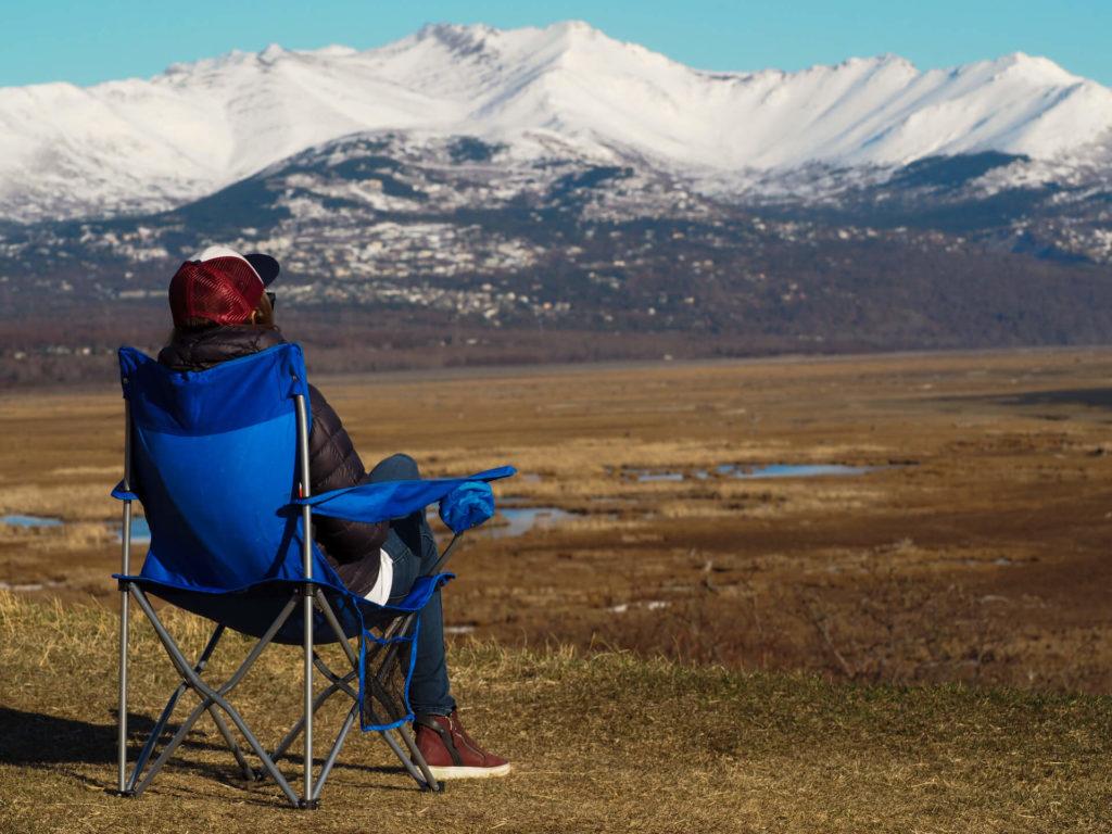 Widok z punktu widokowego w Anchorage na Alasce - Wycieczka Alaska