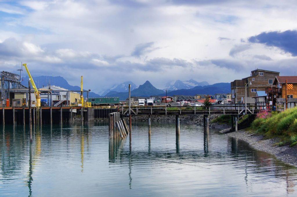 Widok na miasteczko Homer na Alasce
