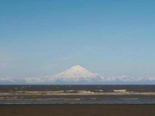 Widok na jeden z aktywnych wulkanów
